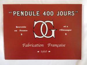 Claude Grivolas 1910 400 Day Clock Catalog Reprint