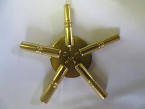 5 Prong Star American Brass Key - Odd Sizes