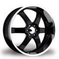 "22"" BOSS-330 Glossy Black with SuperFinished lip 6x135"