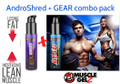 GEAR + AndroSHRED combo by MuscleGELZ - Super Endurance + Fat Burning