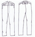 GRSP-335-Eastern Mule Ear Trouser Pattern