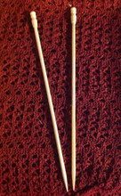 "3.5/size 4 Bone knitting needles, 10""long, smooth"