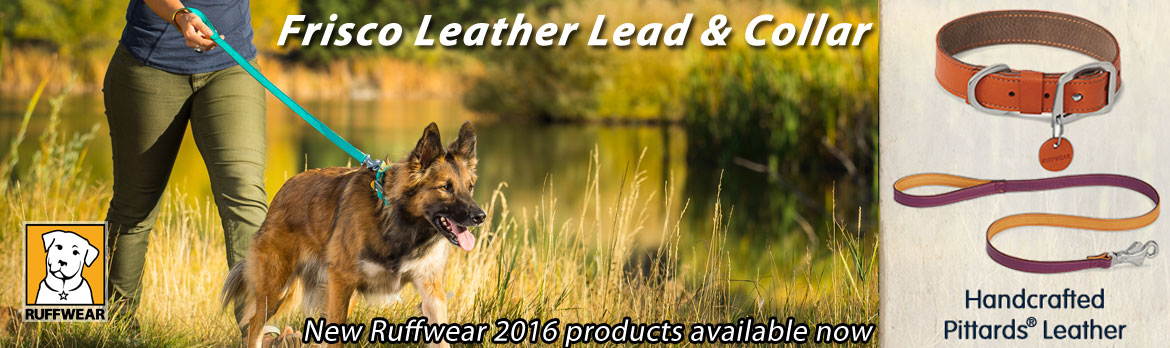 Ruffwear Frisco Leather Dog Lead and Collar in stock  now | K9active