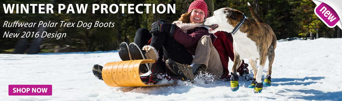 Polar Trex Dog Boots. Great Winter Paw protection in snow and ice.
