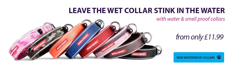 Waterproof Dog Collars. Kepp the stink at bay.