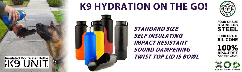 K9 Water bottle K9 Unit from H2O4K9