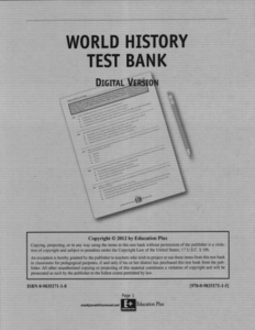 World History Test Bank