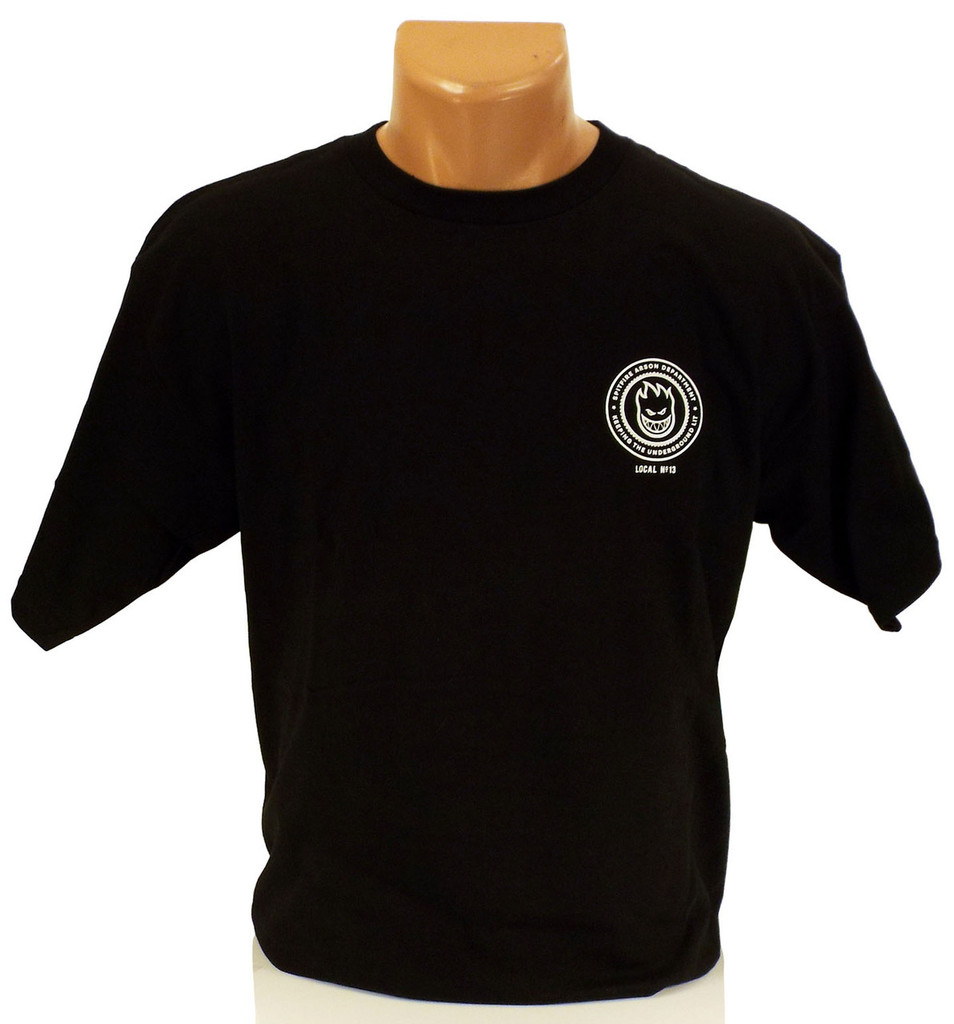 Spitfire x DCS Burn Union T-Shirt - Black