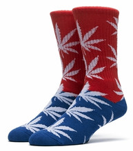 Huf Color Block Plantlife Crew Sock - Red/Blue