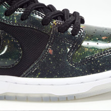 Nike SB Dunk Low Trd QS  (4/20 Galaxy) Shoes - Black/Black-White-Metallic Cool Grey