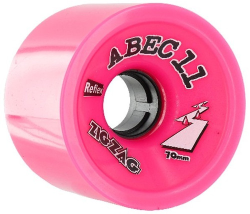 Abec 11 Zig Zags Pink Wheels - 70mm 77a