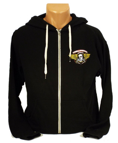Powell-Peralta Winged Ripper Zip Hoodie - Black
