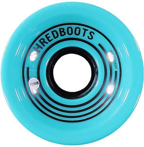 GoldCoast Shred Boot Teal Longboard Wheels - 70mm/85A