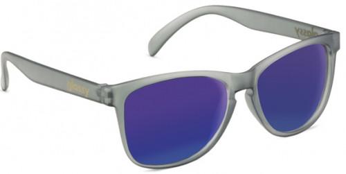 Glassy Deric Sunglasses - Transparent Grey/Blue Mirror