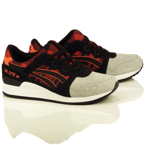 "Asics Gel-Lyte III Shoes - Red/Black ""Lumberjack Pack"""