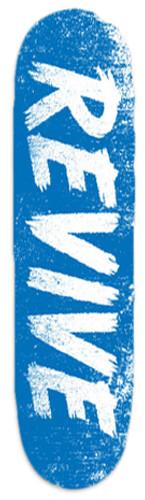 "Revive Sketch Blue/White Skateboard Deck - 8"""