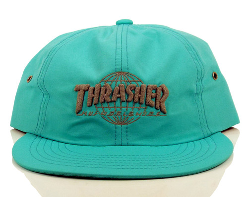 Huf x Thrasher TDS 6-Panel Strapback Hat - Mint