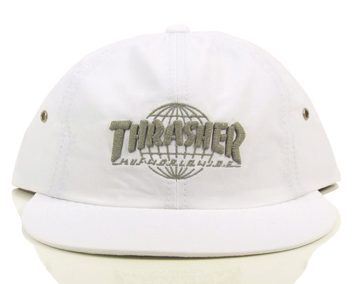 Huf x Thrasher TDS 6-Panel Strapback Hat - White