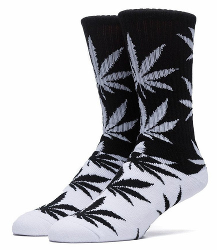 Huf Color Block Plantlife Crew Socks - Black/White