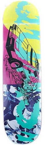 "Quasi Fastcar Pink Skateboard Deck - 8.25"""