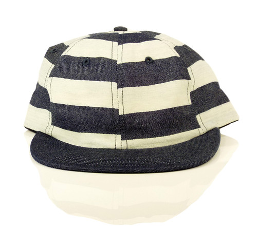 Quasi Bars Denim Strapback Hat - Navy