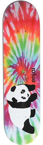 "Enjoi Tie Dye Panda Skateboard Deck - 8.25"""