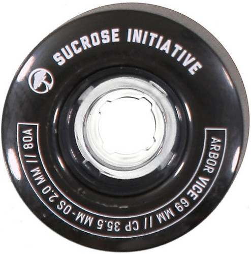 Arbor Vice Black Longboard Wheels - 69mm 80a