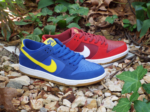 "Nike SB ""Boca Jr"" and ""University Red"" Dunk Shoes"