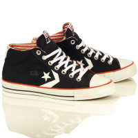 "Converse Starplayer Mid Shoes - Canvas/Black ""Americana"""