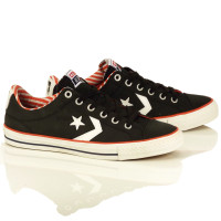 "Converse Starplayer Shoes - Canvas/Black ""Americana"""
