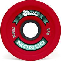 Stella Mondo Red Longboard Wheels - 75mm 83a
