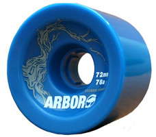 Arbor Freeride Blue Wheels - 72mm 78a
