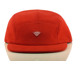 Diamond Brilliant D 5-Panel Hat - Red