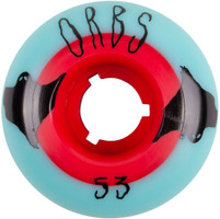 Welcome Orbs Poltergeists Teal/Red Core Skateboard Wheels - 53mm
