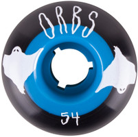 Welcome Orbs Poltergeists Black/Teal Core Skateboard Wheels - 54mm