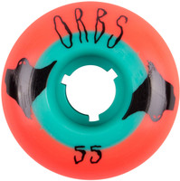 Welcome Orbs Poltergeists Neon Orange/Teal Core Skateboard Wheels - 55mm