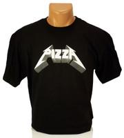 Pizza Metal T-Shirt - Black