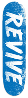 "Revive Sketch Blue/White Skateboard Deck - 8.25"""