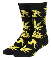 Huf WWW Crew Socks - Black