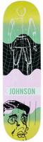 "Quasi Johnson Futuro Yellow Skateboard Deck - 8.37"""