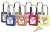 No. 410 & 411 Lightweight Xenoy Safety Lockout Padlocks (470-410ORJ)