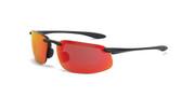 * CrossFire ES4 HD red mirror lens, matte black frame (CF-2169)
