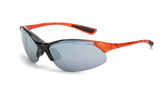 * CrossFire Cobra silver mirror lens, shiny black/crystal burnt orange frame (CF-1583)
