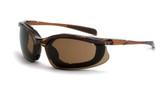 * CrossFire Concept HD brown anti-fog lens, black frame, foam lined (CF-867AF)