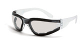 * CrossFire Shield indoor/outdoor clear lens, crystal clear frame, foam lined (CF-5515AF)