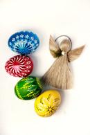 1 set of wooden Easter eggs + linen Angel