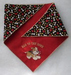 Doggie Bandana - Bad to the Bone Neck under 20""
