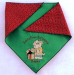 Doggie Bandana - Santa Paws is Coming Neck under 20""