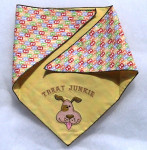 Doggie Bandana - Treat Junkie Neck over 20""