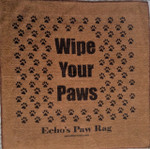 Wipe Your Paws Cloth - Imprinted Microfiber (Personalized)